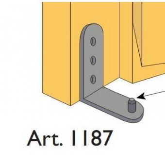 Beltéri ajtóvasalat harmonika ajtóhoz alsó horgony pánt Art.1187