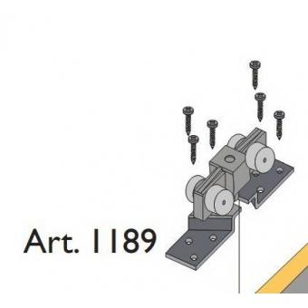 Beltéri ajtóvasalat harmonika ajtóhoz felső görgő 40kg/szárny Art.1189