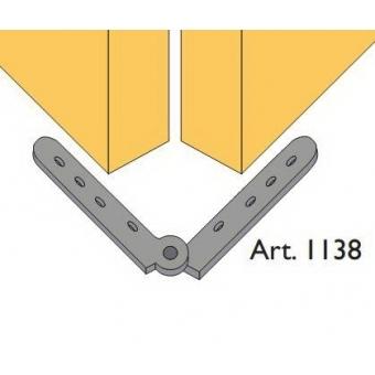 Beltéri ajtóvasalat harmonika ajtóhoz rugós összecsukható pánt 40kg/szárny Art.1138