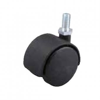 Fotelgörgő 40mm fekete + csap 8x15mm 30kg teherbírás