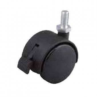 Fotelgörgő 40mm fekete + csap 8x15mm fékes 30kg teherbírás