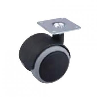 Fotelgörgő gumis 50mm talppal fekete