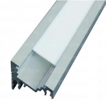 LED alu profíl CORNER 30°/60° csavarozva 1m eloxált alumínium