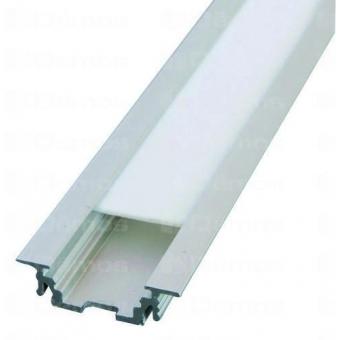 LED alu profíl GROOVE bemaráshoz 2m eloxált alumínium