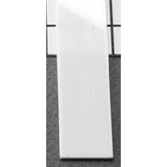 LED alu profíl takaró befűzős fehér 2m