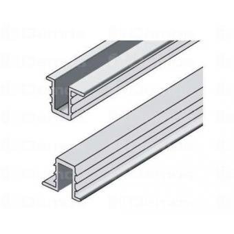 Terno tolóajtó vasalat alsó vezető sín alumínium 2m